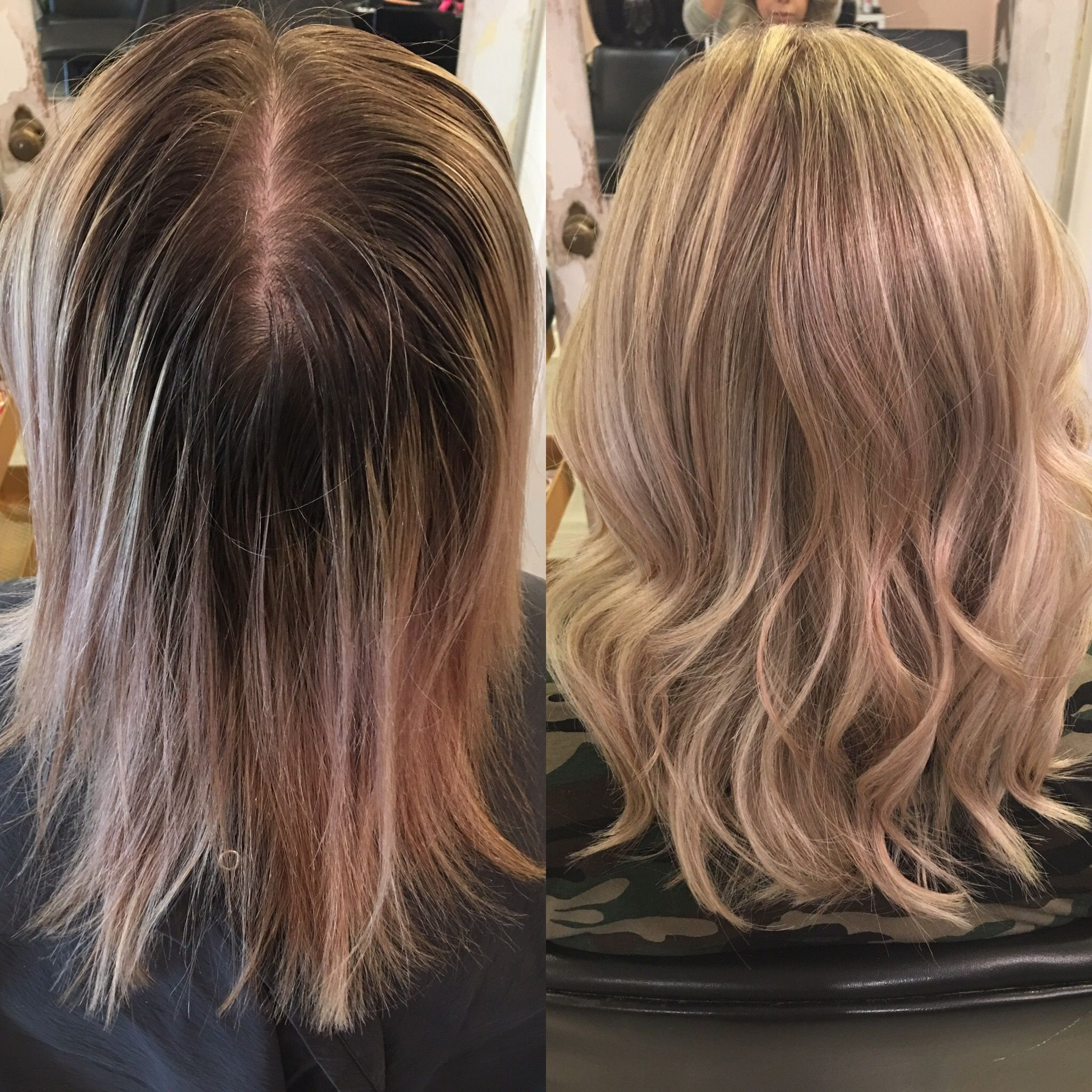 Blonde Hair Highlights Curls Platinum Blonde Summer Hair Lob Haircut
