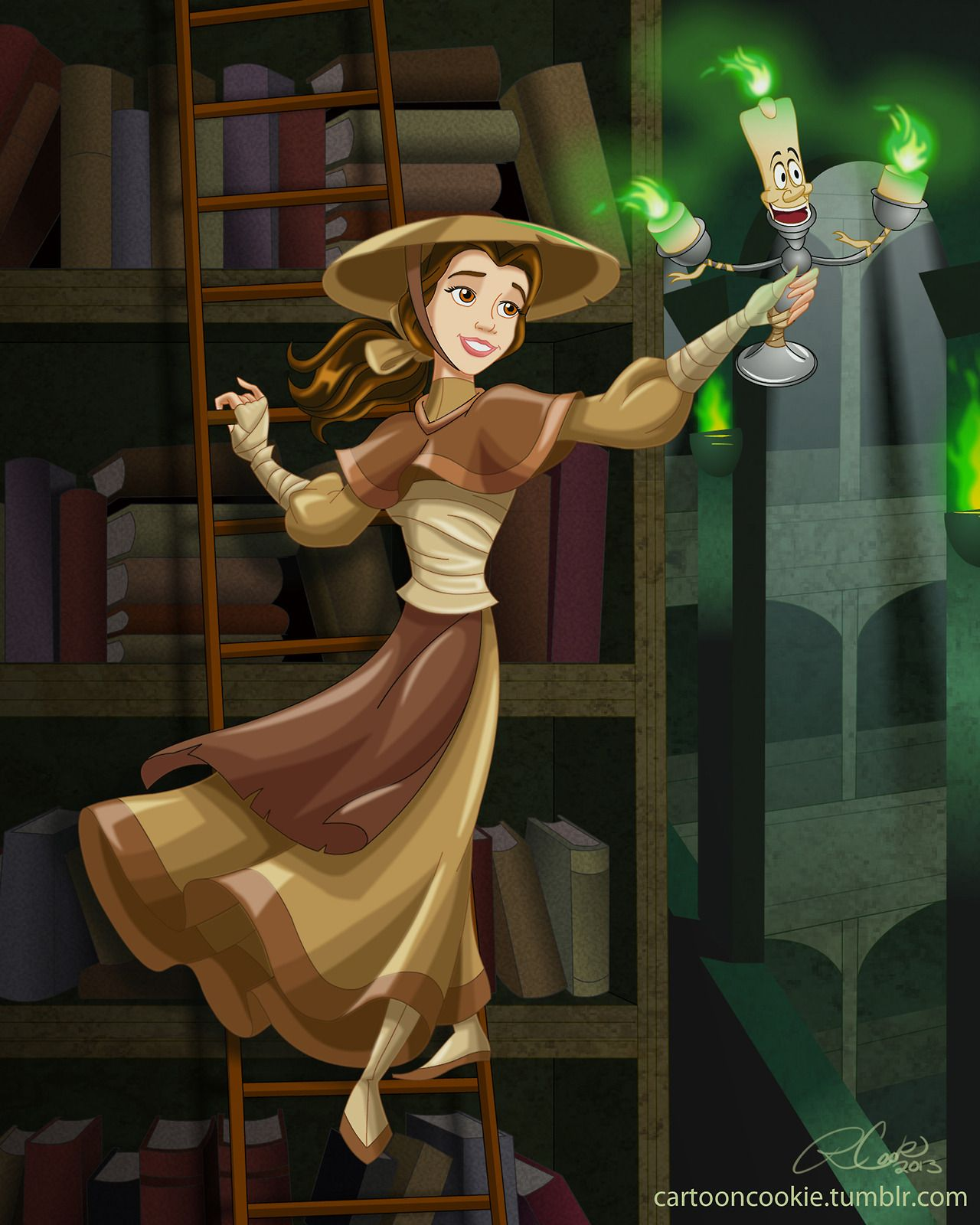 Professor Belle and the mystical Library.