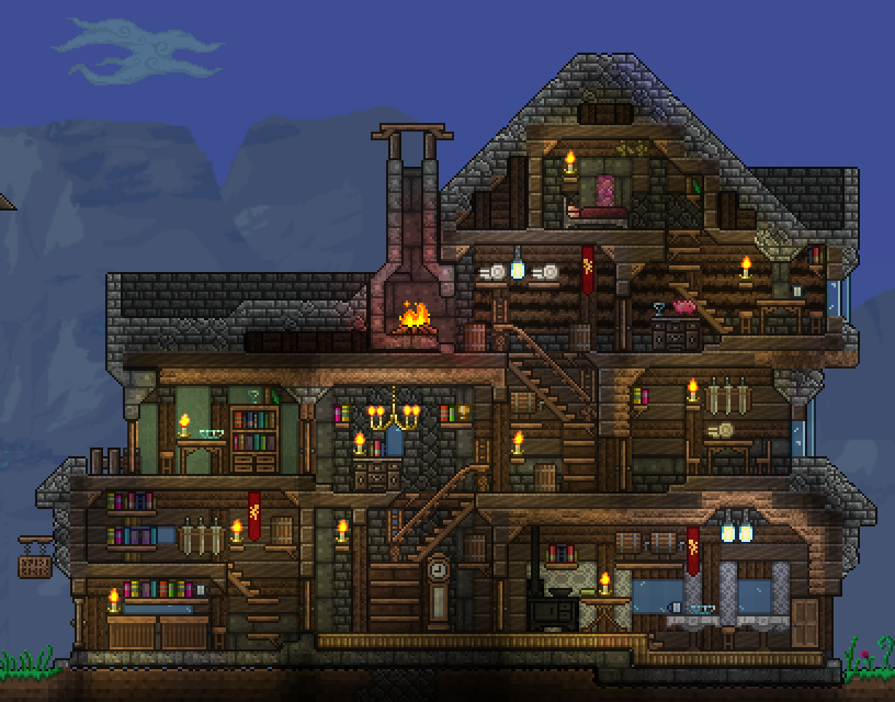 Pin by Tyler Nguyen on Terraria house design in 2020