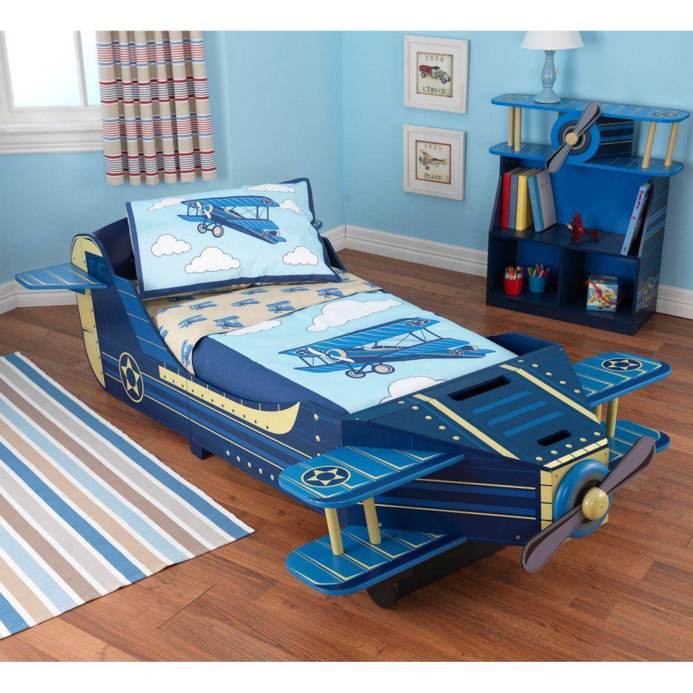 Turn crib into toddler loft bed  KidKraft Airplane Toddler Bed    Toddler Beds at Hayneedle