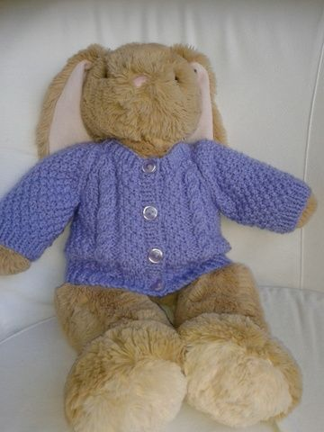 Teddy Bear Aran Cardigan Pattern By Linda Mary Pinterest Ravelry