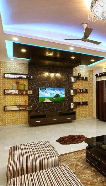 275 Best Lcd Unit Images On Pinterest: Living Room Tv Unit Designs