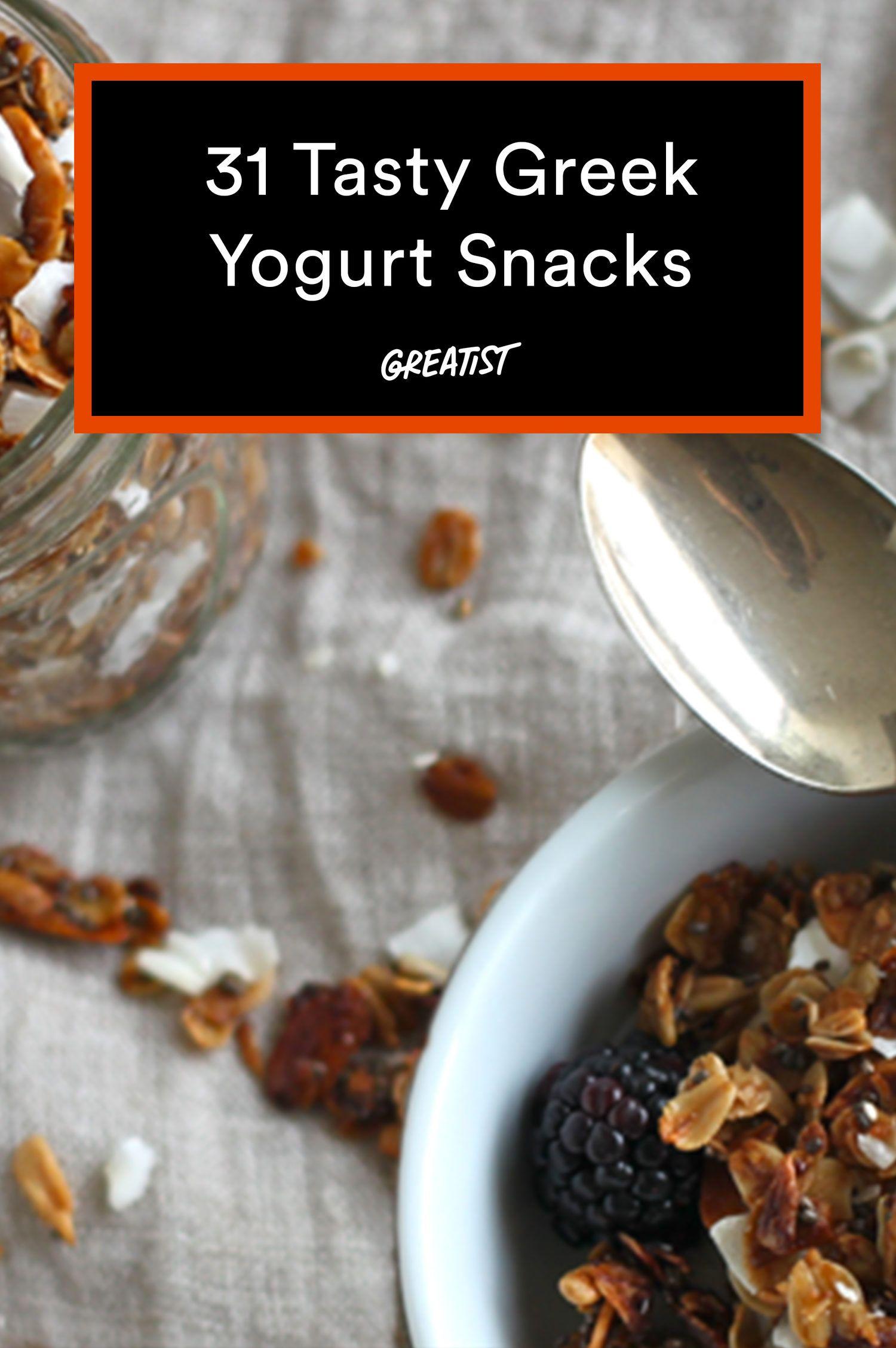 31 Tasty Greek Yogurt Snacks