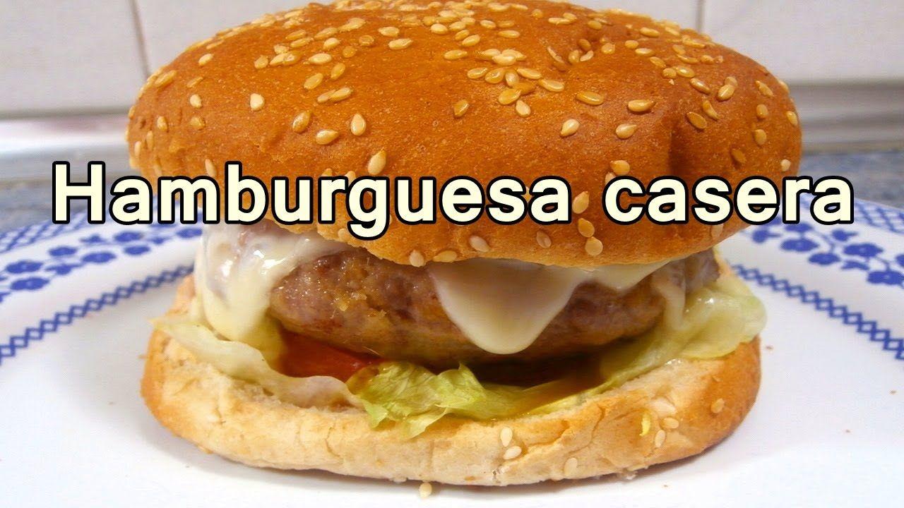 Hamburguesa Casera Facil Recetas De Cocina Faciles Rapidas Y  ~ Recetas Cenas Faciles Y Rapidas