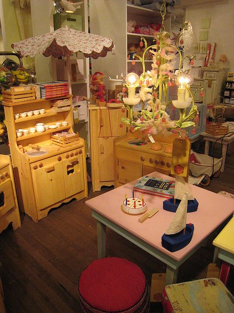 Natural Wooden Play Kitchens by Elves and Angels