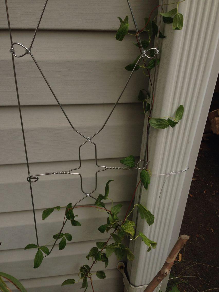 Wire Hangers Trellis Diy Diy Trellis Metal Plant Hangers Wire
