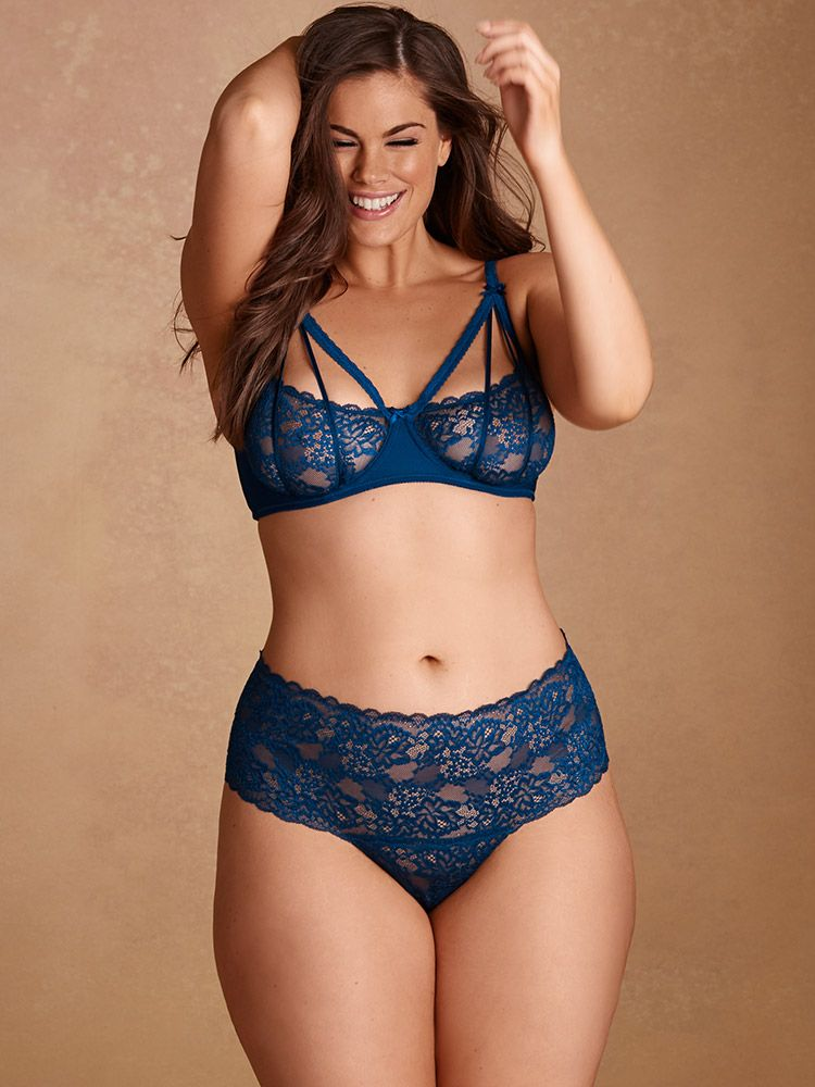 26e5a055e Plus Size Camille Lace Cheeky Thong