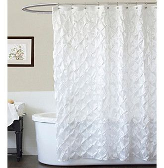 Product Lush Decor Quartet White Shower Curtain White Shower