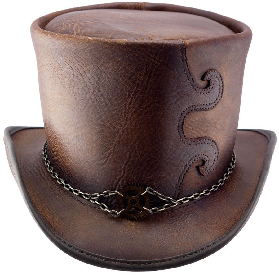 Leather Top Hat Pattern Galleryhip Com The Hippest Galleries Leather Top Hat Leather Hats Steampunk Hatter