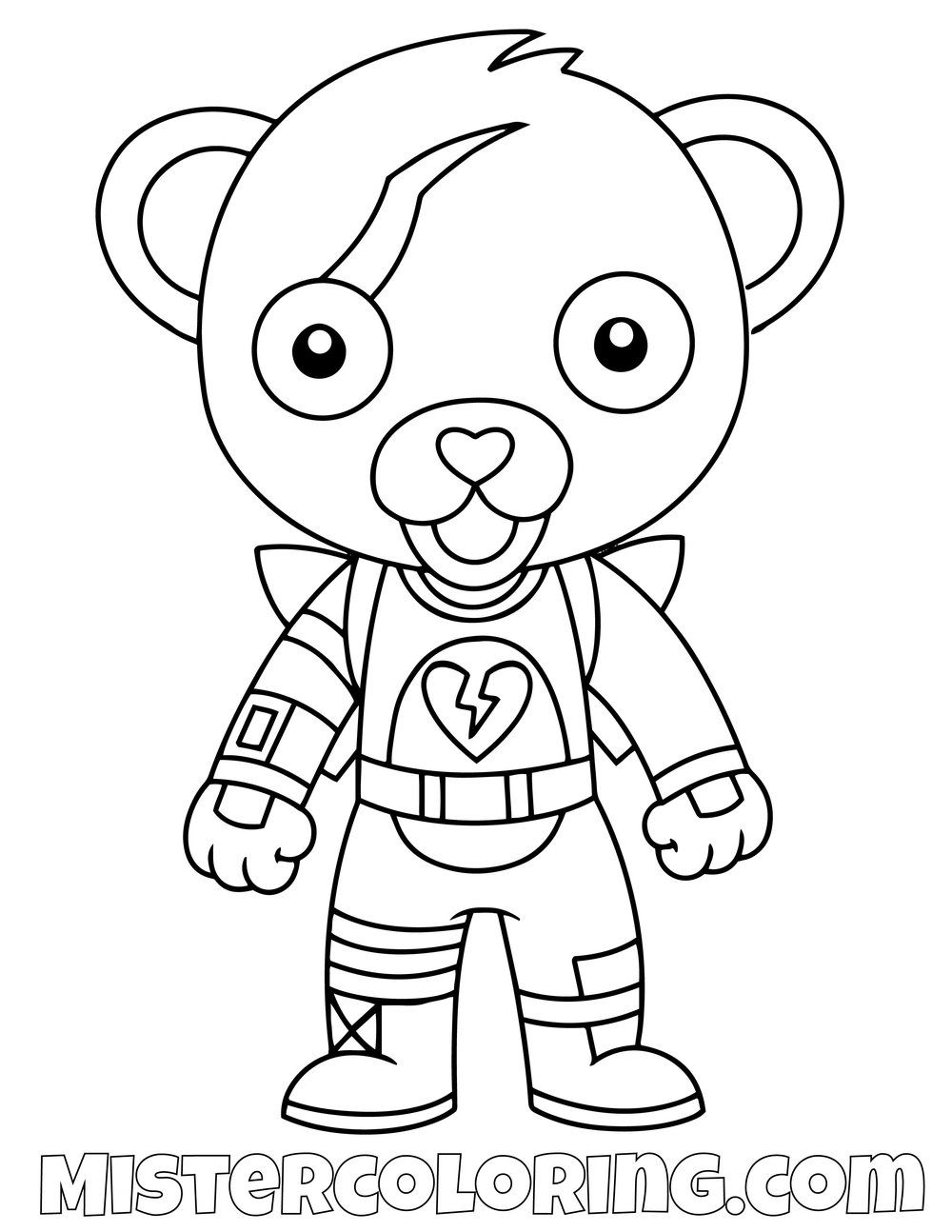 Free Cuddle Team Leader Chibi Fortnite Coloring Page For