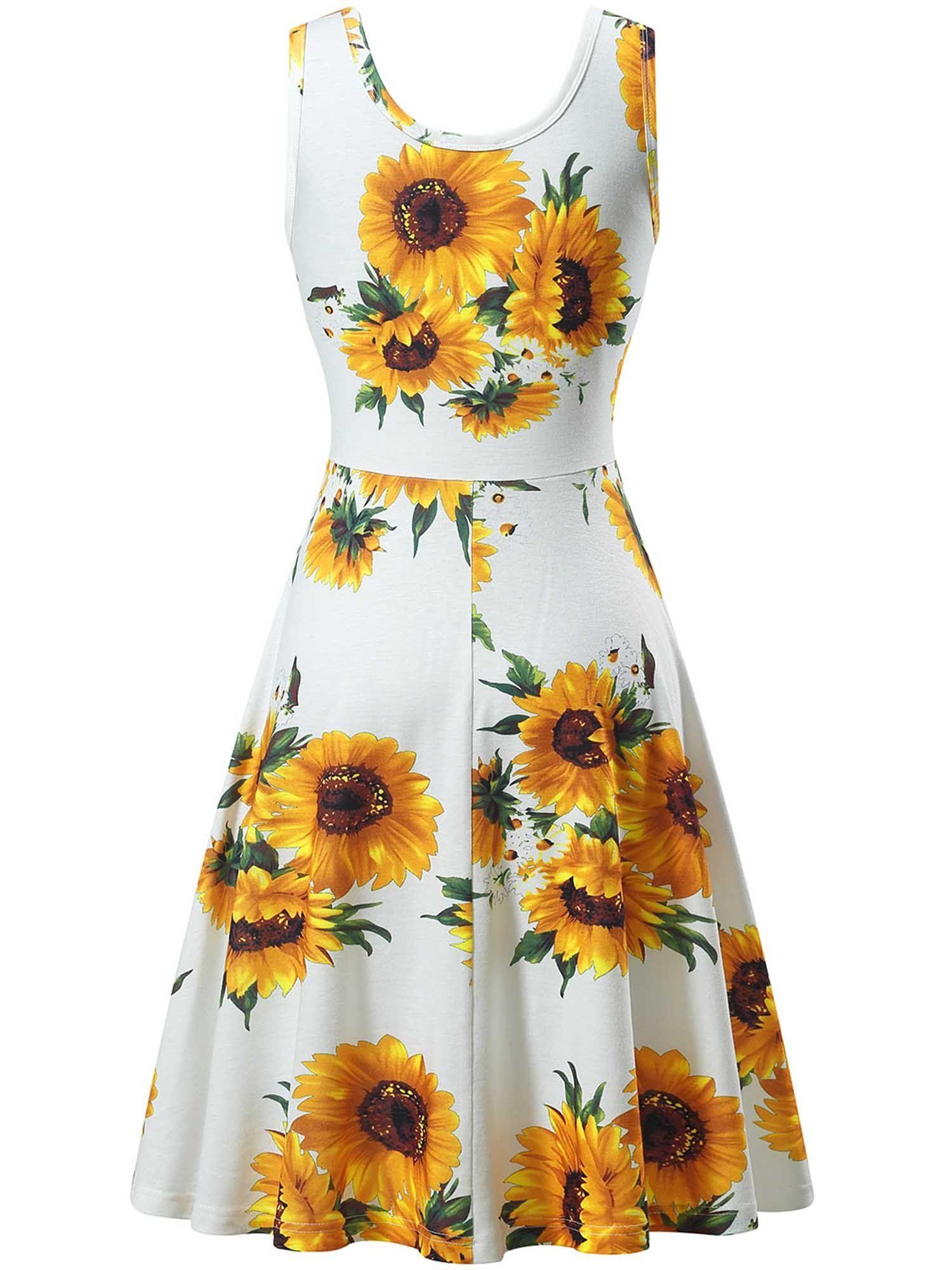 Fensace Women S Tank Top Midi Green Floral Sunflower Dresses 18034 9 Large Affiliate Summer Wedding Summer Dresses Floral Dress Summer Dresses [ 2000 x 1500 Pixel ]