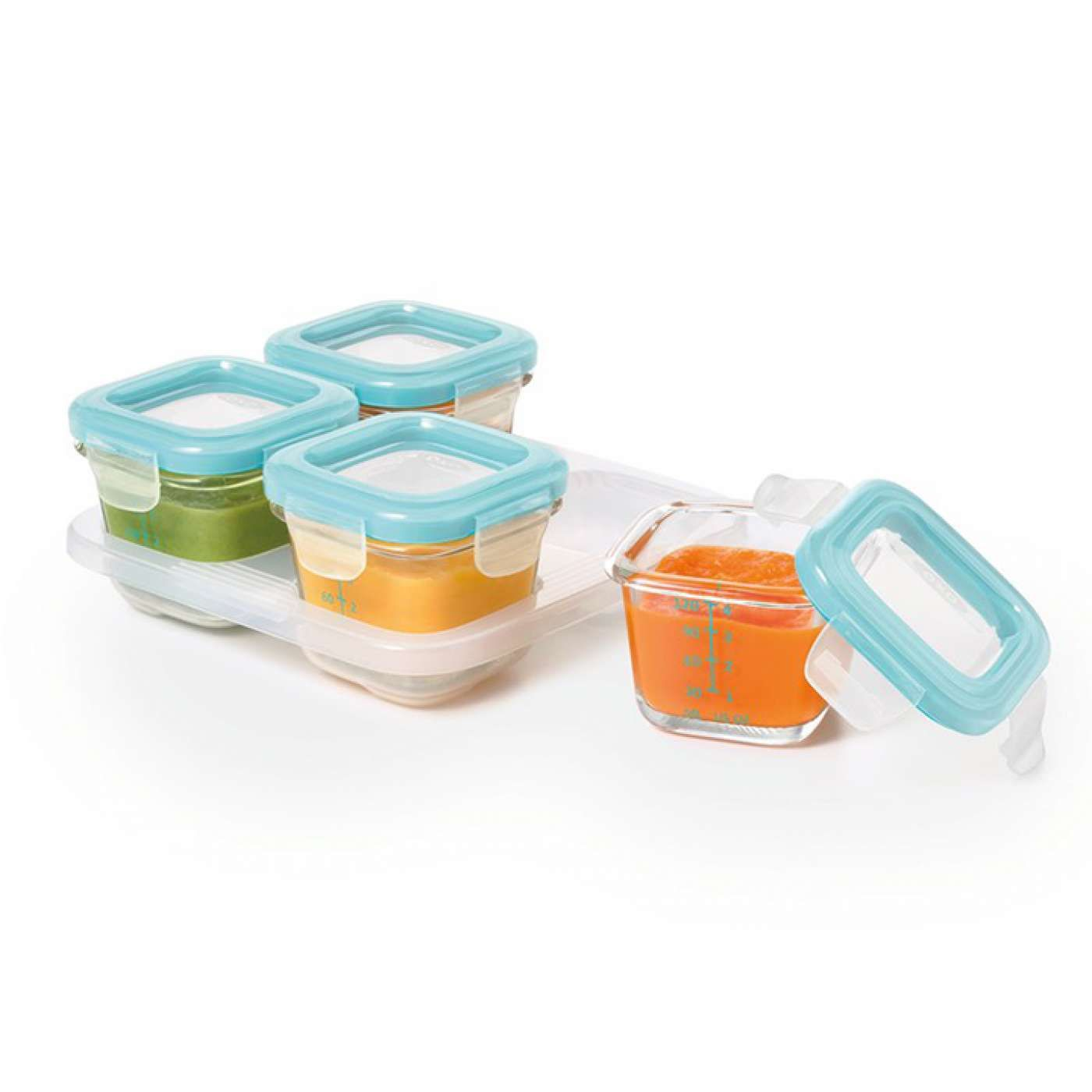 Oxo Tot Glass Baby Block Food Storage Containers Can Go From Freezer To Oven