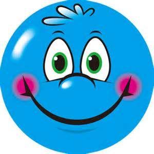 Blue Smiley Face Clip Art