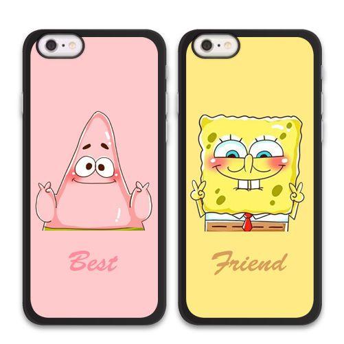 Spongebob Patrick Bff Best Friend Case For Iphone X 8 7 6 Galaxy S8 S7 Edge Plus Friends Phone Case Bff Iphone Cases Best Friend Cases