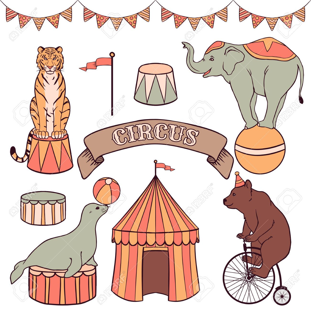 hight resolution of circus seal clipart free google search