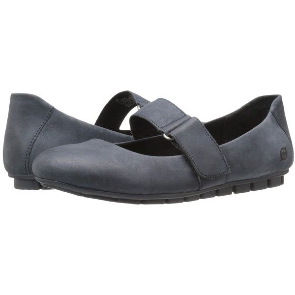 Born Malli (River Full Grain Leather) Women's Flat Shoes ($95) ❤ liked