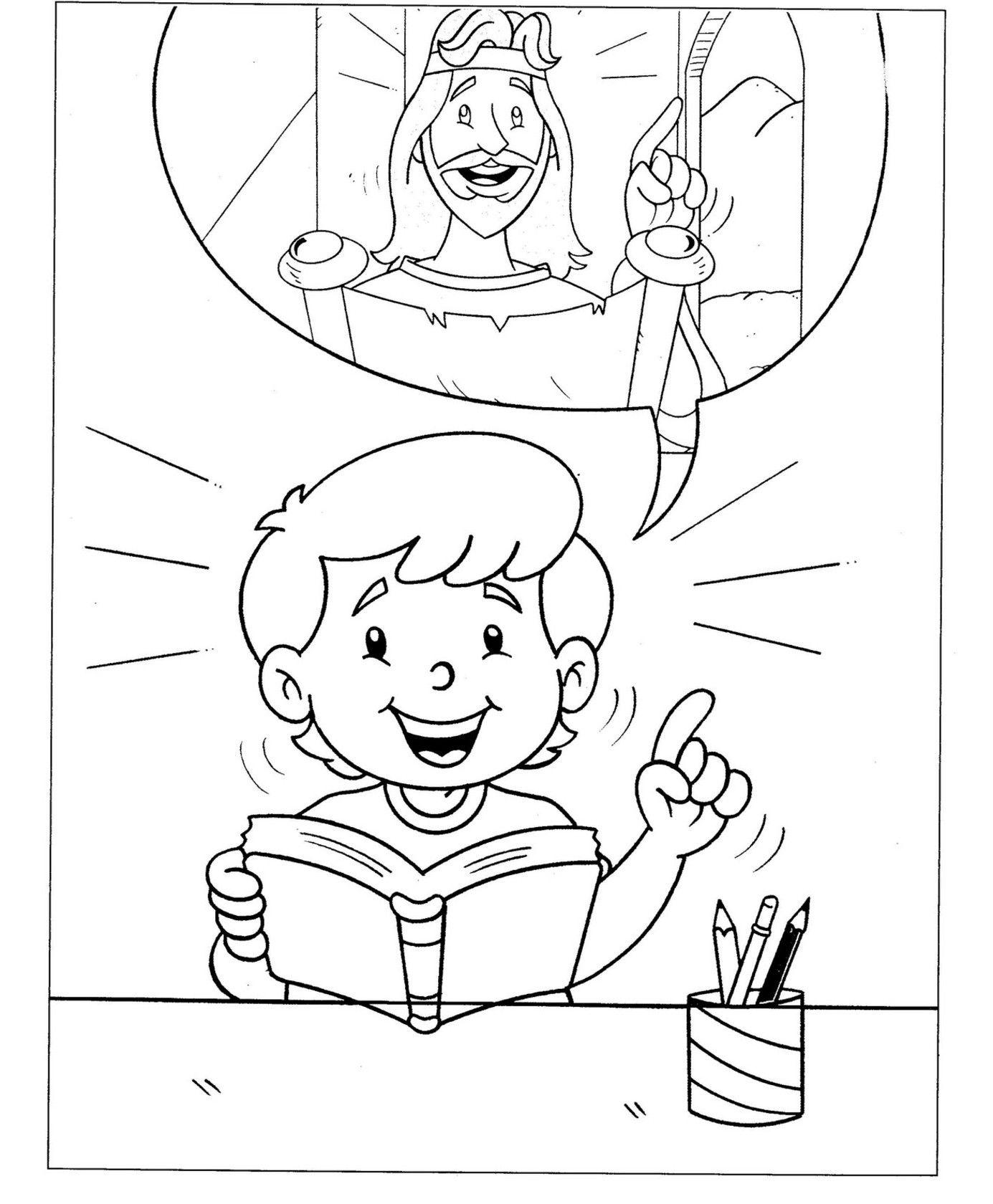 Único Imagenes Para Colorear Biblicas Para Niños | Colore Ar La Imagen