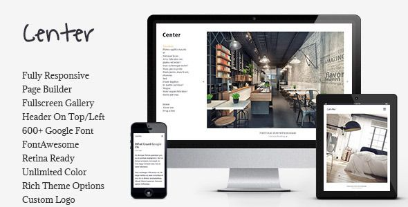 Center - Portfolio / Gallery Responsive WP Theme . Center has ...