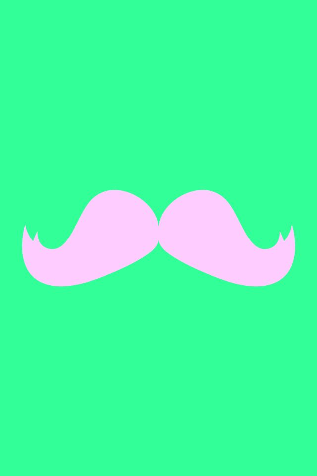 pink mustache with mint background love mustache