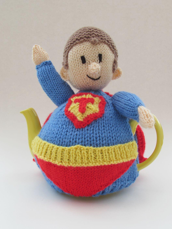 Superhero tea cosy knitting pattern in 2020 | Tea cosy ...