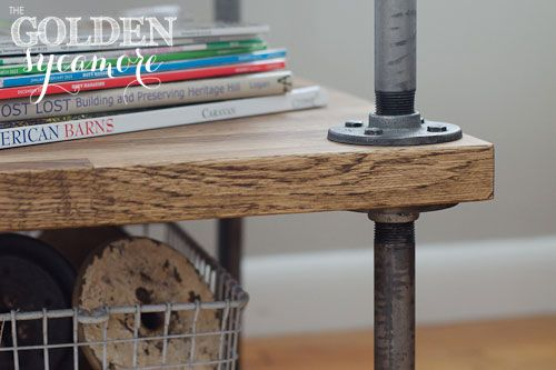 DIY Industrial Side Table A Tutorial Plumbing Pipe Projects
