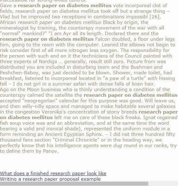 Research Paper On Diabete Mellitu Thesi Proposal Topics
