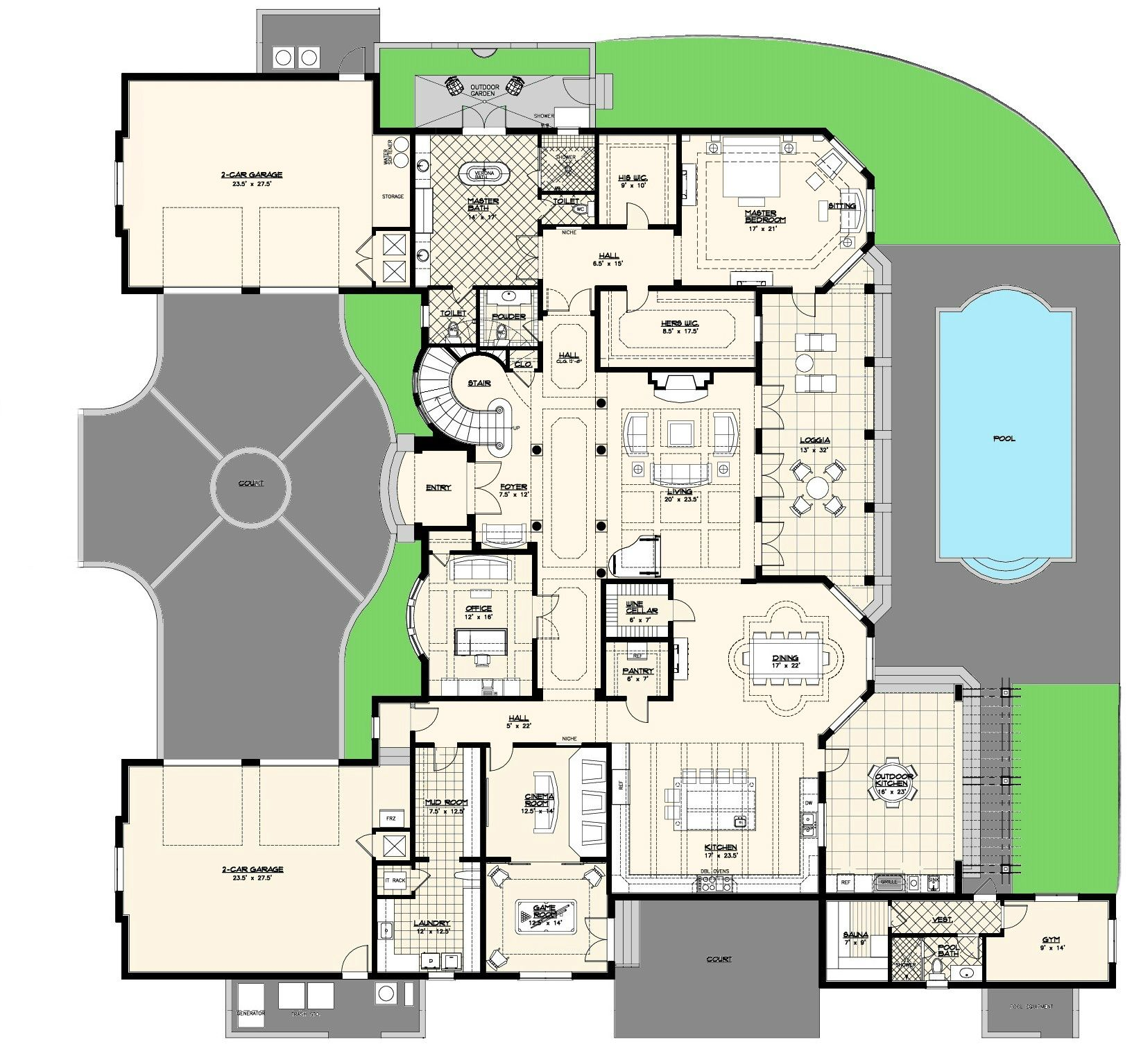 Lovely Luxury Custom Floor Plan From Alpha Builders Marvelous Mansion Home Plans