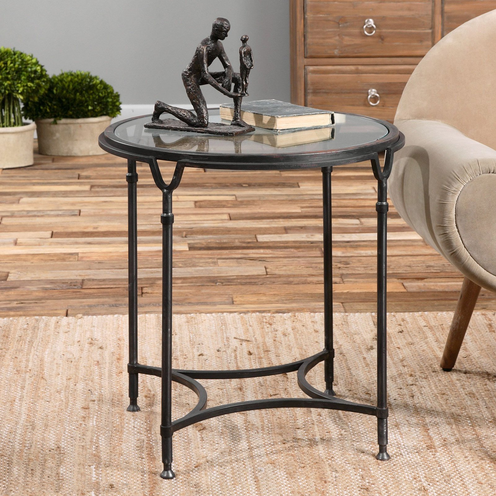 uttermost samson glass side table products in 2019 glass side rh pinterest com