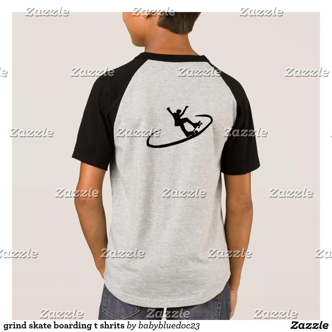 Zazzle t shirt design size - Grind Skate Boarding T Shrits T Shirt