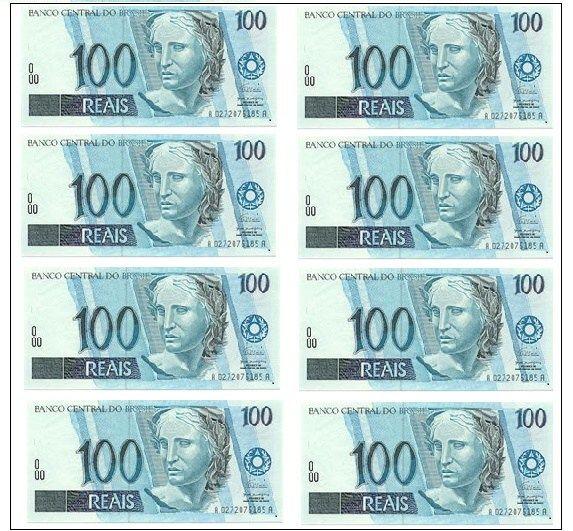 Cedulas De Cem Reais Dinheiro Imagens De Dinheiro Fotos De