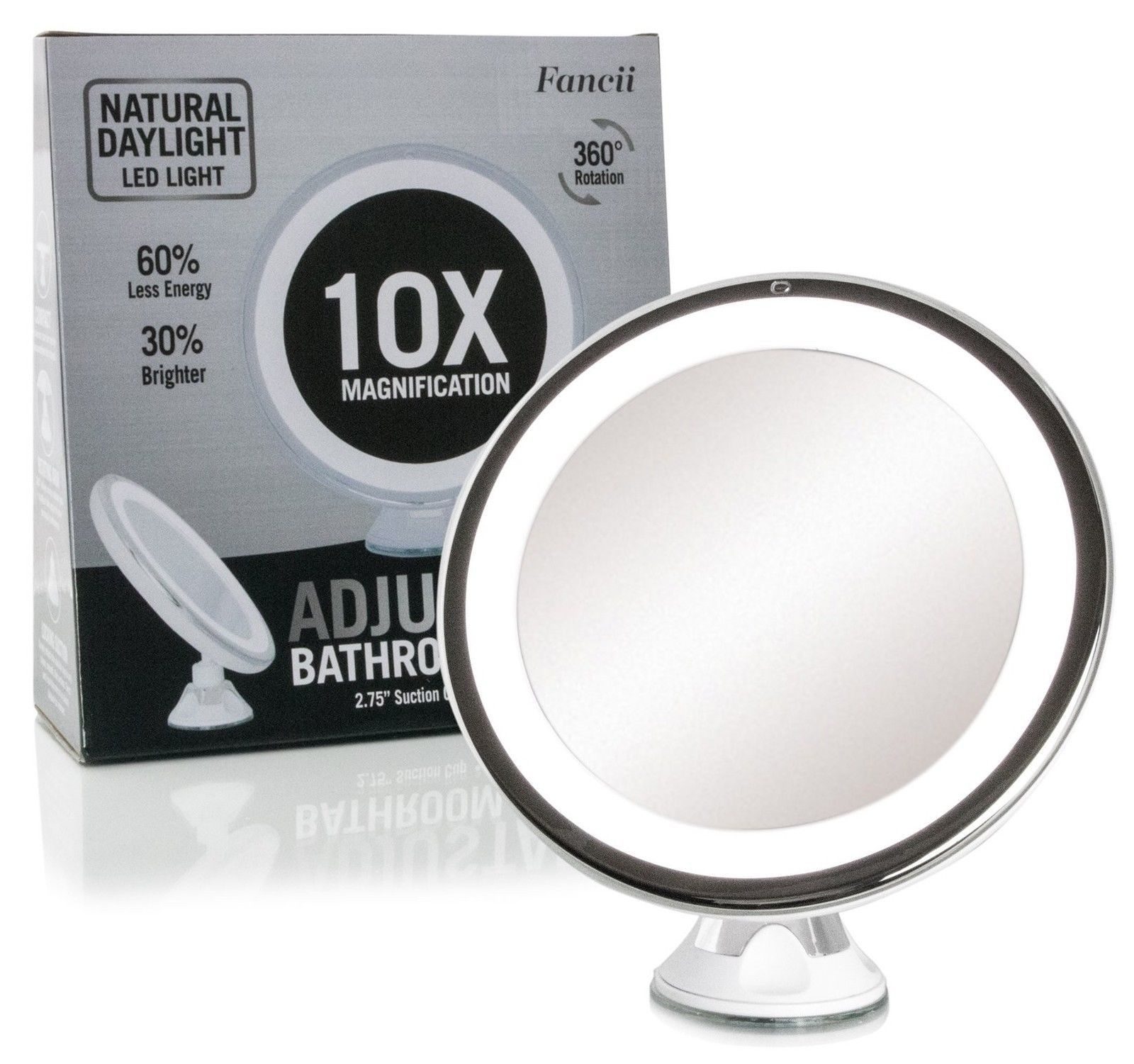 Daylight Led 10x Magnifying Makeup Mirror Lighted Travel Vanity