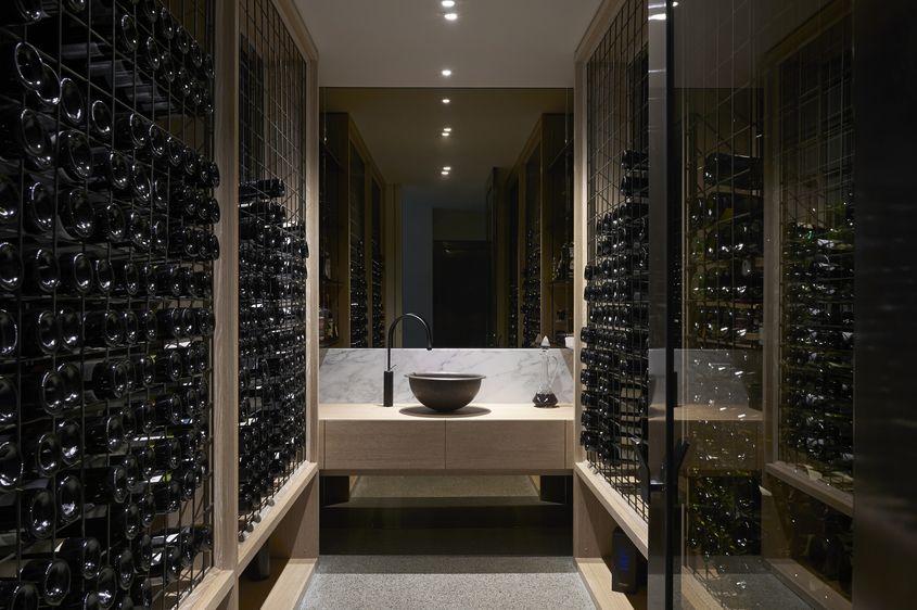 Room & Gallery | Australian Interior Design Awards | Details - Wine walls ...