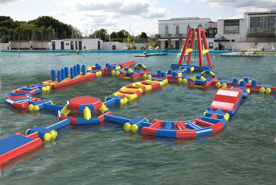 Lymington Sea Water Baths Obstacle Course Computer