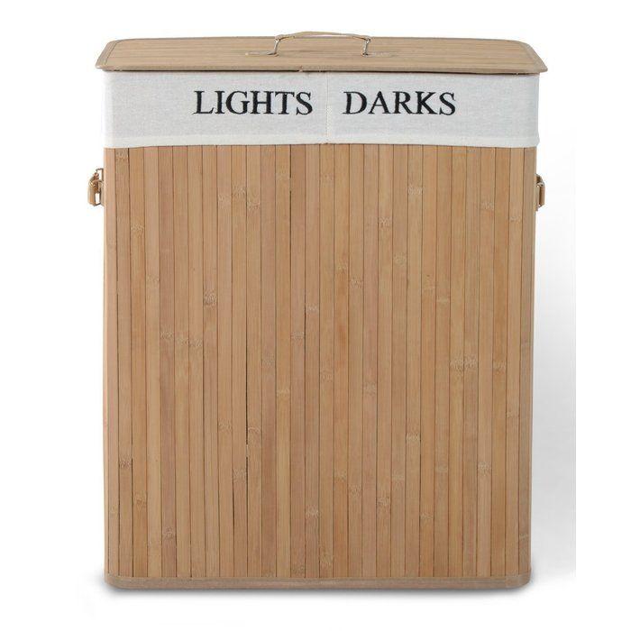 4 Sections Kankyo Storage Box Natural Bamboo//Cotton Liner Storage New