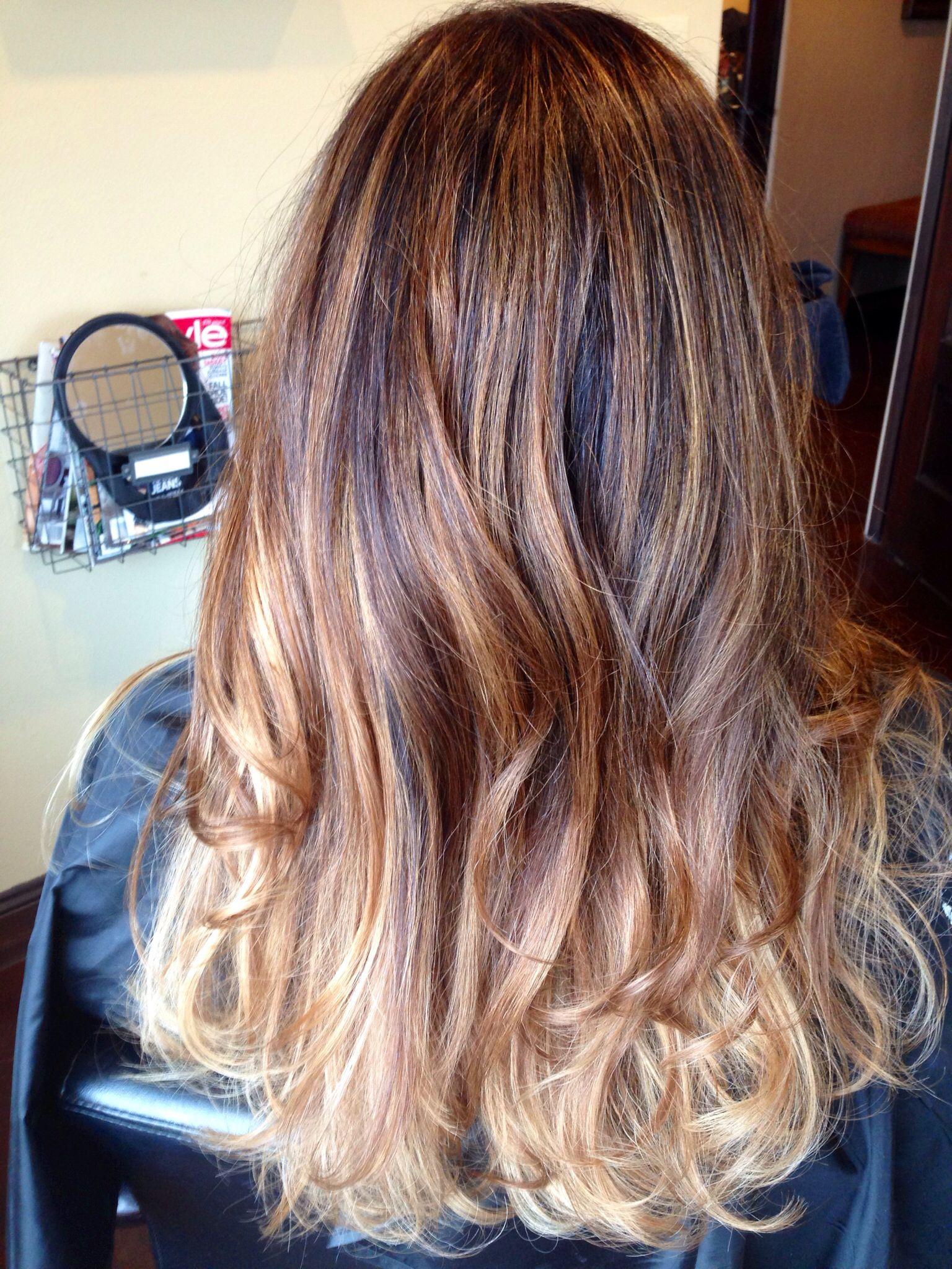Brunette ombré with color melting hair pinterest hair hair