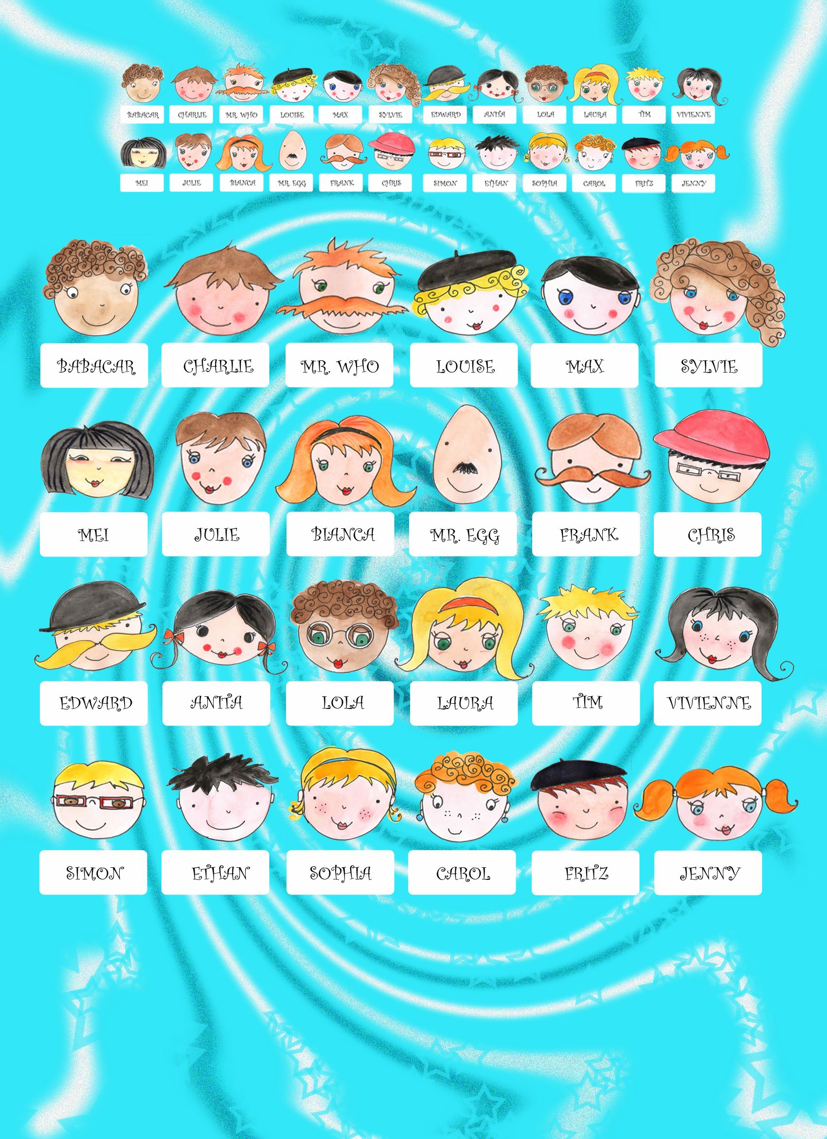 Hasbro Guess Who Faces Printable | Guess Who Hasbro Character Sheets ...