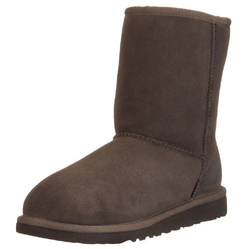 UGG Australia Girls' Classic Short Sheepskin Fashion Boot Chocolate 2 M US  ** Read more at the image link.