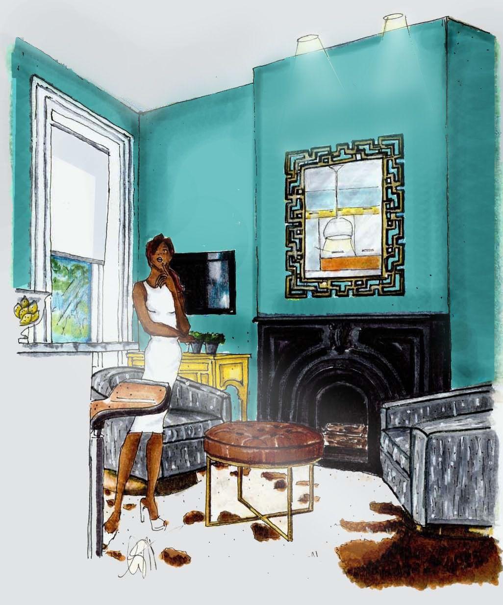 Annette Wright Od360 Designs Interior Design Sketches Beautiful Interior Design Interior Sketch