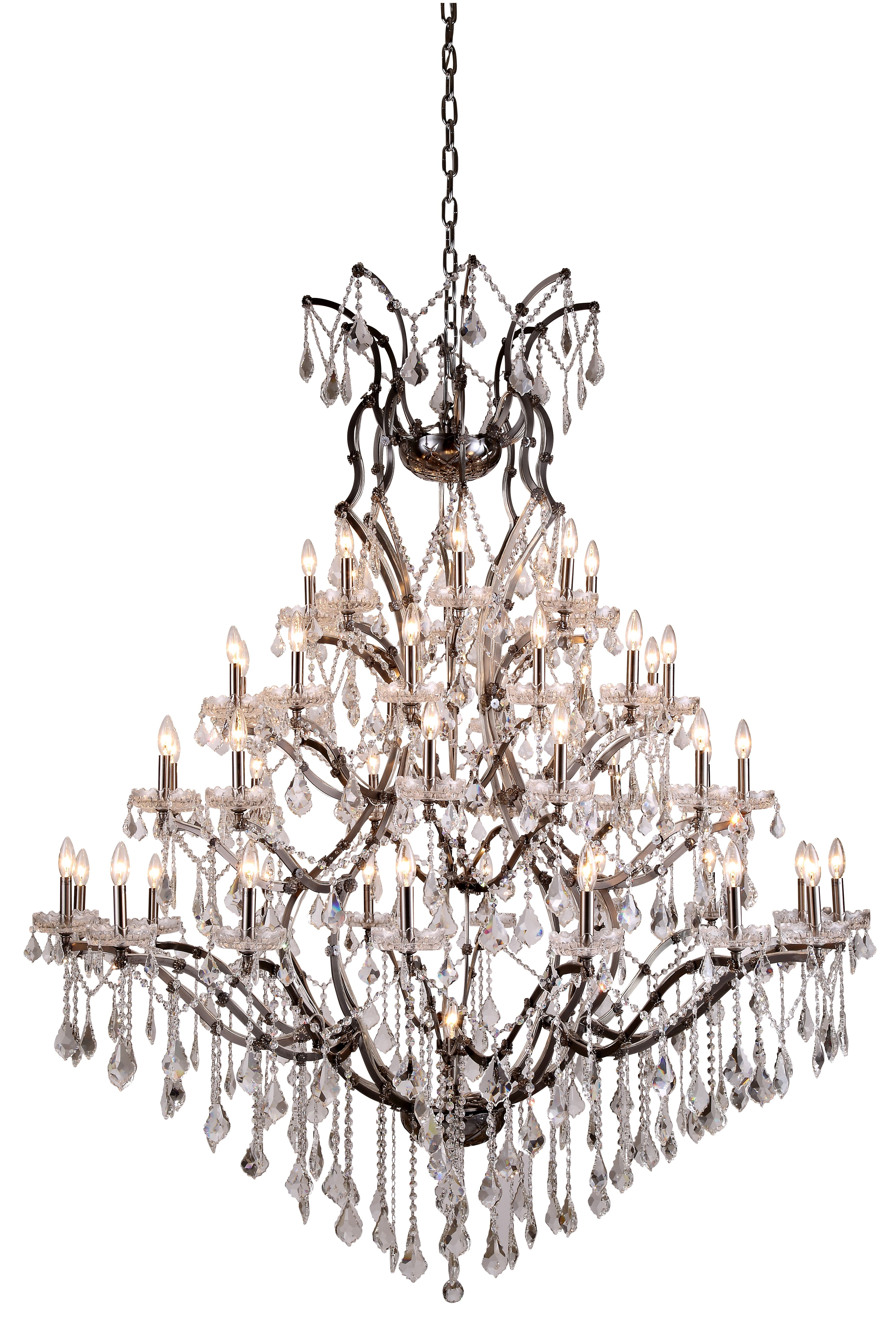 19th C Rococo 49 Light 60 Crystal Chandelier In 2020