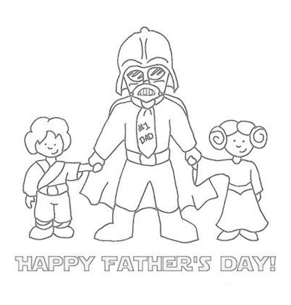 Star Wars Theme Father Day Card Coloring Pages Card Coloring Pages Father And Son Coloring Page Fathers Day Art Fathers Day Coloring Page Fathers Day Crafts