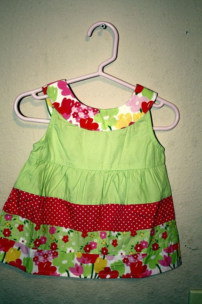 Gymboree Top 100% Cotton 6-12 Months Everyday Floral Multi-Color Sleeveless  #Gymboree #Everyday