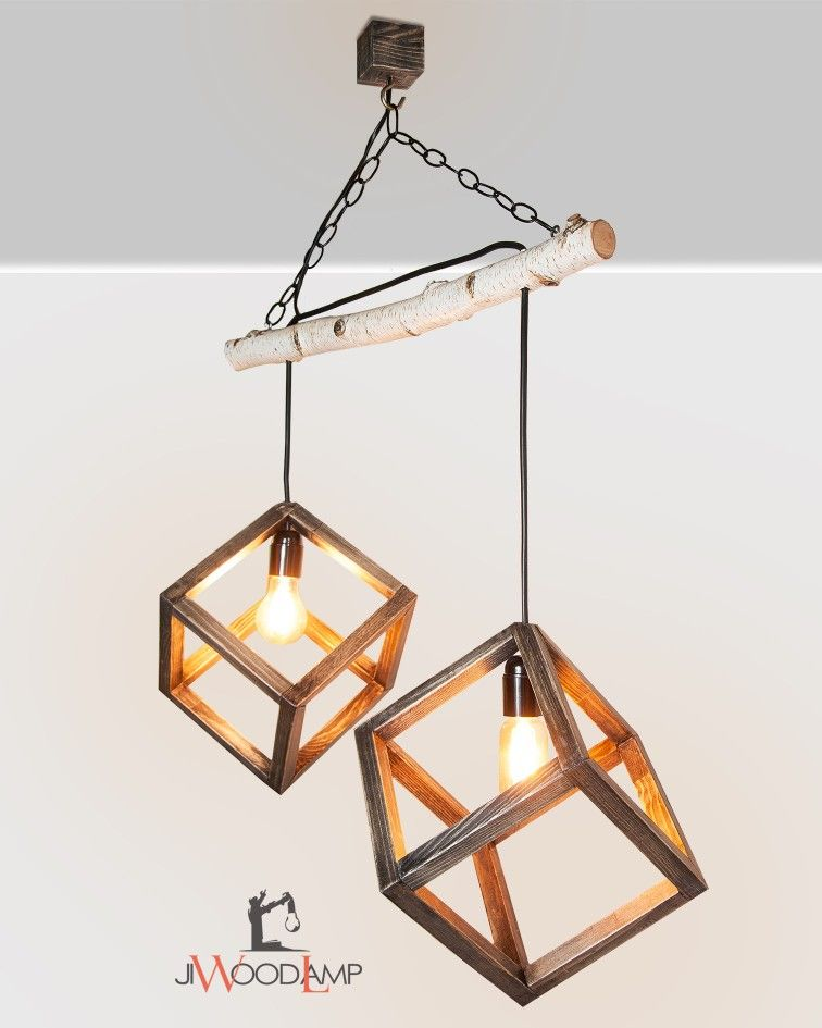 Wood Lamp Shades Fixture Wooden Hanging Lamp Pendant Birch Light