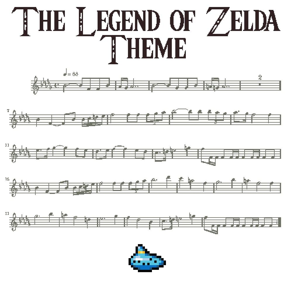 The Legend Of Zelda Theme Flute Sheet Music Flute Music Music