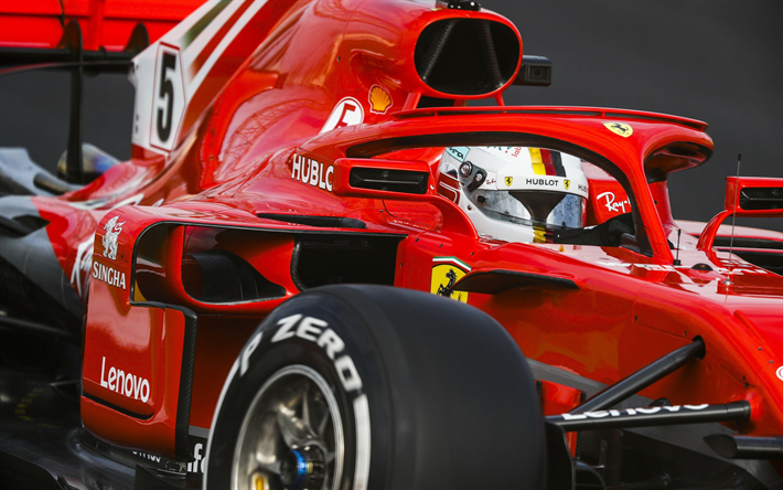 Download Wallpapers Halo Sebastian Vettel Close Up Ferrari Sf71h 4k 2018 Cars Scuderia Ferrari Raceway Formula 1 New Ferrari F1 F1 New Cockpit Protec Ferrari F1 New Ferrari Ferrari
