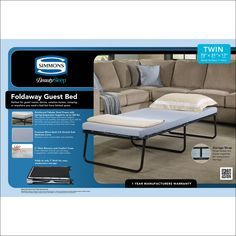 Folding Guest Bed Mattress Only Foam Sofa Bed Bed