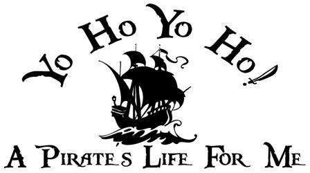 Yo Ho Yo Ho A Pirates Life For Me Wall Art Decal Vinyl