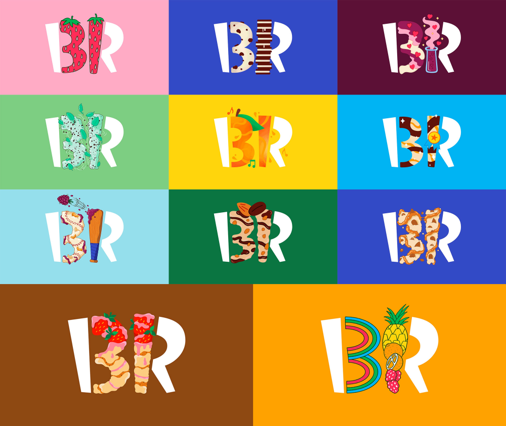 Brand New New Logo And Identity For Baskin Robbins By Jones Knowles Ritchie In 2021 Identity Logo Logo Branding Identity Brand Identity Package