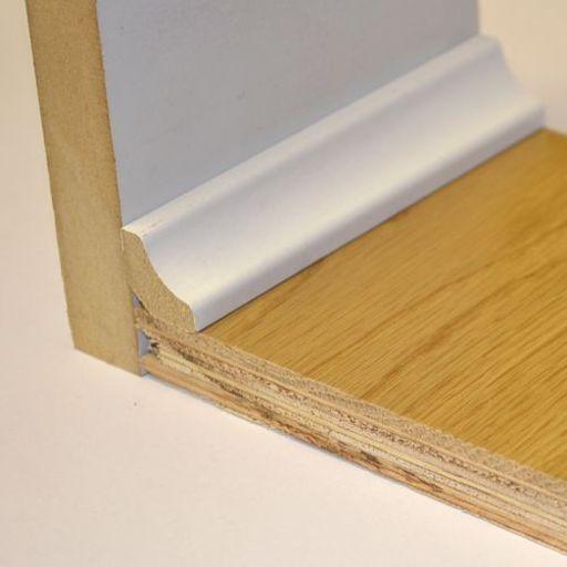 Hdf White Scotia Beading For Laminate Floors 18x18 Mm 24 M In