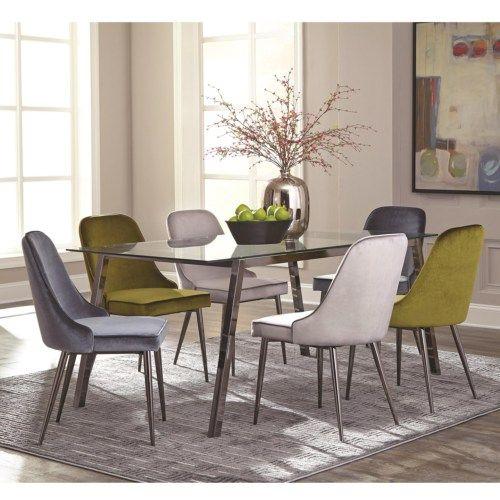 Scott Living Inslee Modern Glass Top Dining Table Set - Coaster Fine