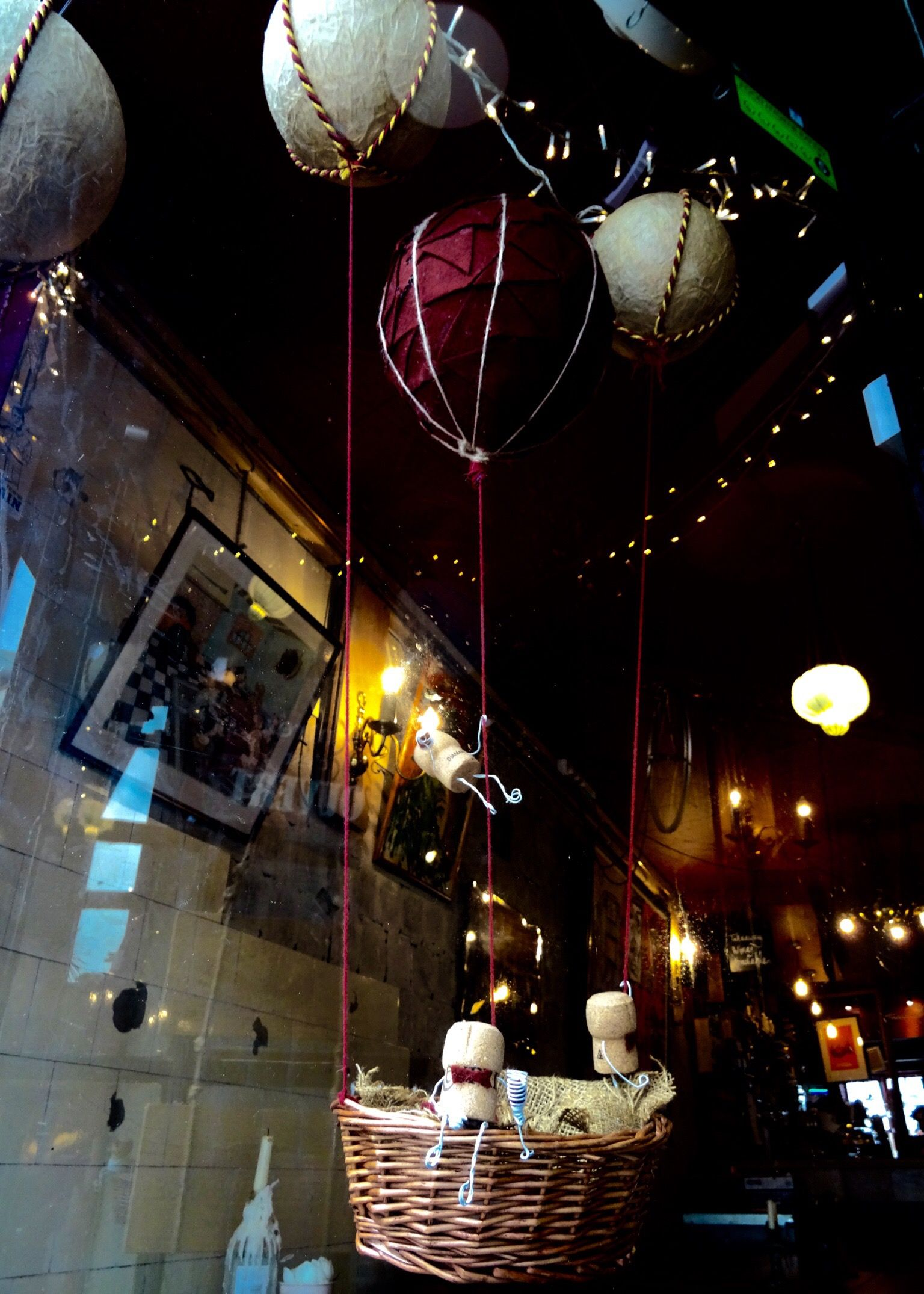 Our new window display September 2016. Hot air balloons